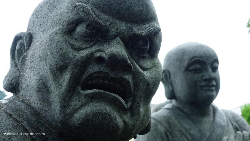 Moine terrifiant, île de Shikoku, photo non libre de droits
