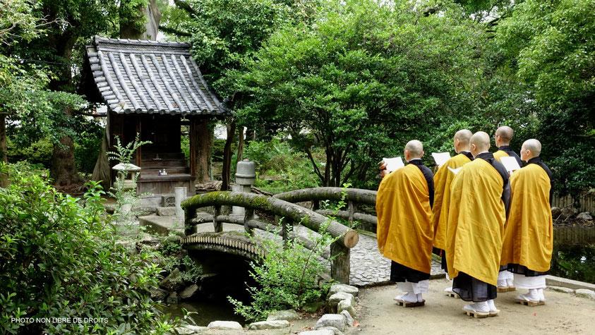 Pèlerinage à Zentsu-Ji, île de Shikoku, photo non libre de droits
