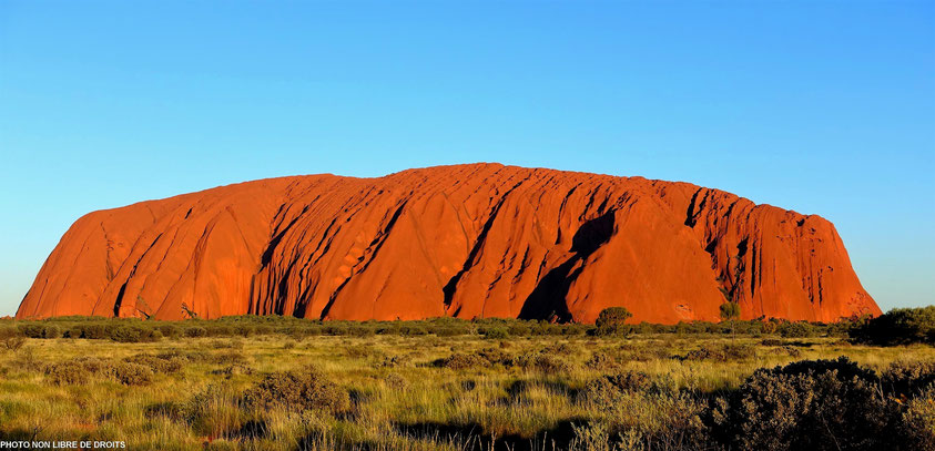 Uluru, l'incandescent, Centre Rouge, Australie, photo non libre de droits
