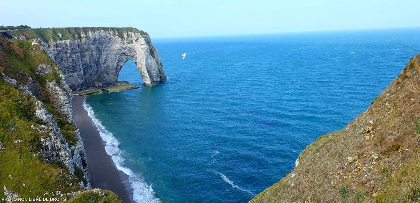 Survol d'Etreta, Normandie, photo no libre de droits