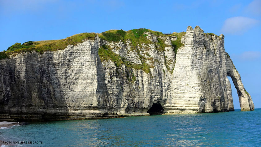 Mythique falaise, Etretat, Normandie, photo non libre de droits