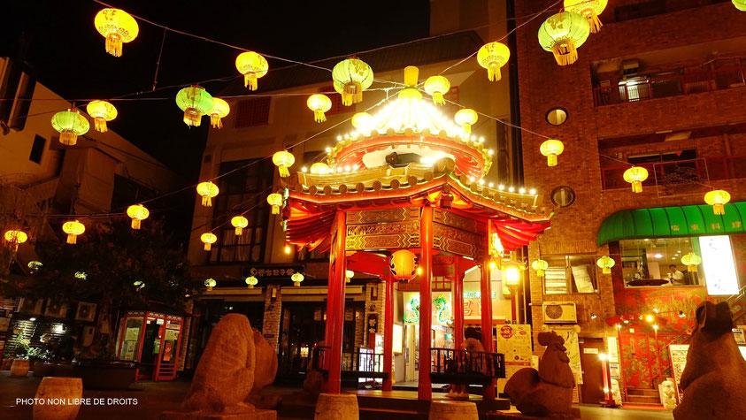 Lanternes chinoises au pays de soleil levant, Kobe, photo non libre de droits