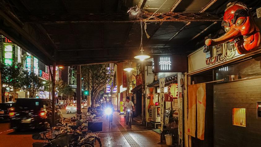 Sortie nocture en vélo, Matsuyama, Japon, photo non libre de droits