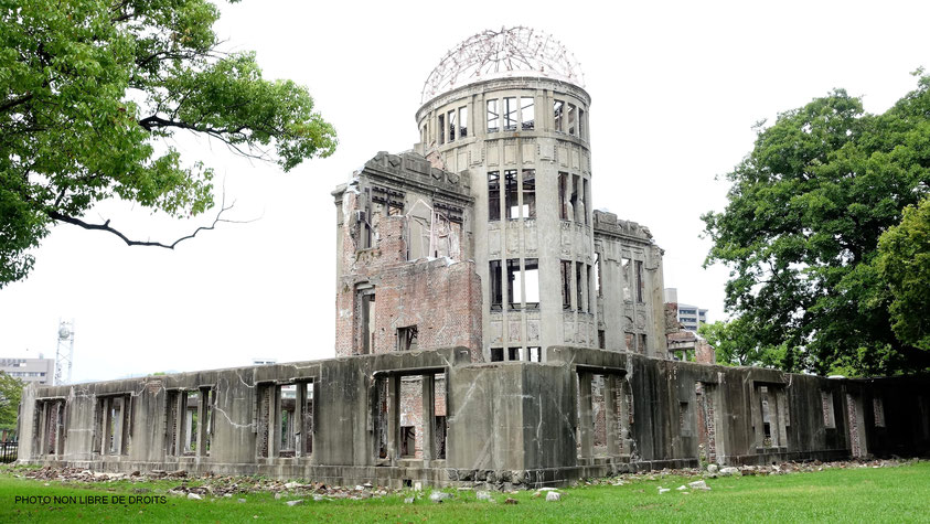 Le dôme de la bombe A, Hiroshima, photo non libre de droits.