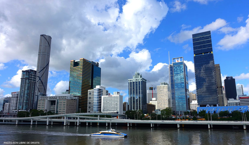 Buildings australiens, Brisbane, photo non libre de droits