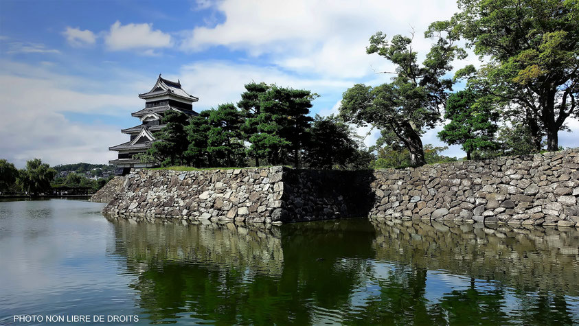Karasu-Jô, le château du corbeau, Matsumoto, photo non libre de droits