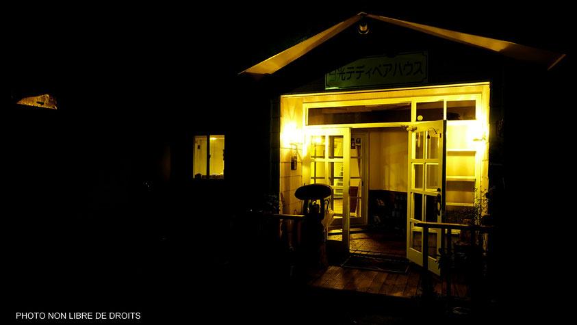 Maison illuminée, Nikko, Japon, photo non libre de droits