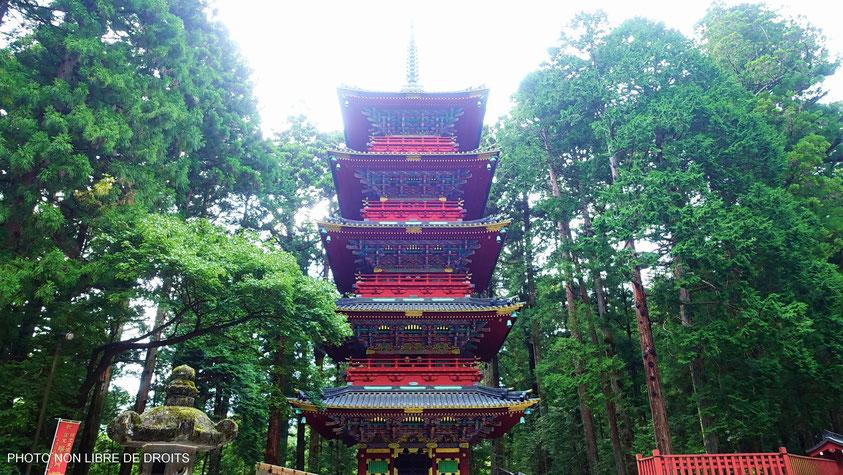 Gojunoto, pagode à 5 étages, Nikko, photo non libre de droits