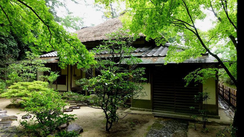 Maison de thé, Ritsurin-Kôen, Japon, photo non libre de droits
