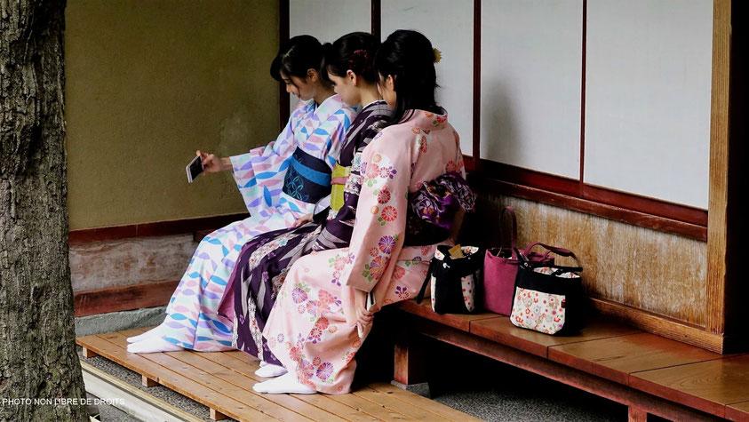 Japonaises à Nomura, Kanazawa, Japon, photo non libre de droits