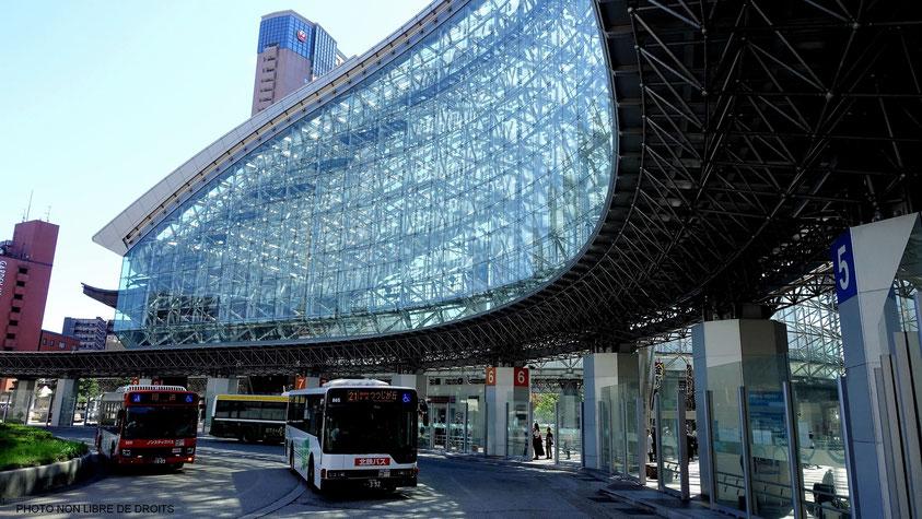 Gare de Kanazawa, Japon, photo non libre de droits