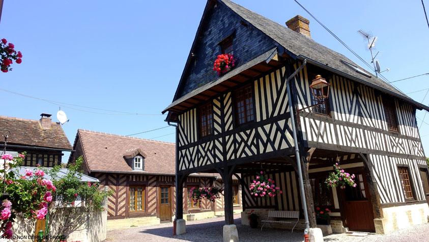 Fière maison normande, Beuvron-en-Auge, photo non libre de droits