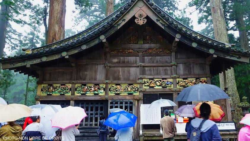 Les singes de la Sagesse, sanctuaire Tosho gu de Nikko, photo non libre de droits