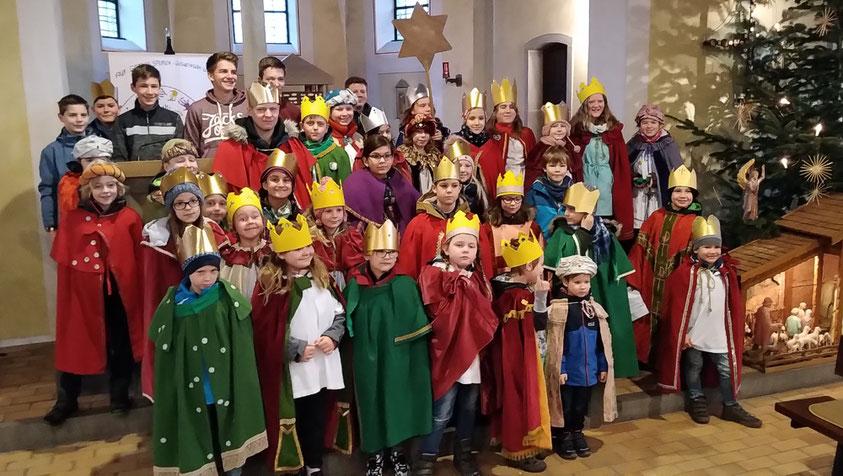 Gruppenfoto Sternsinger St. Januarius