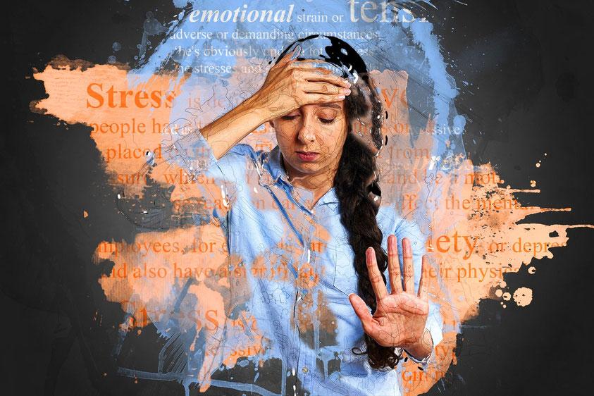 Mujer estresada