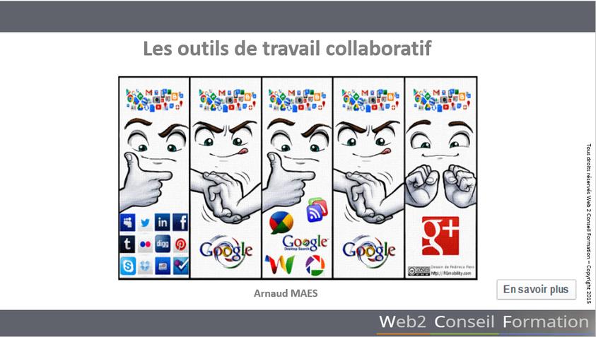 Formation apprendre à utiliser les outils de travail collaboratifs du Cabinet Web 2 Conseil Formation