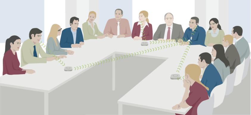 En reuniones y conferencias, los micrófonos inalámbricos son de gran utilidad para acercar el mensaje del interlocutor.