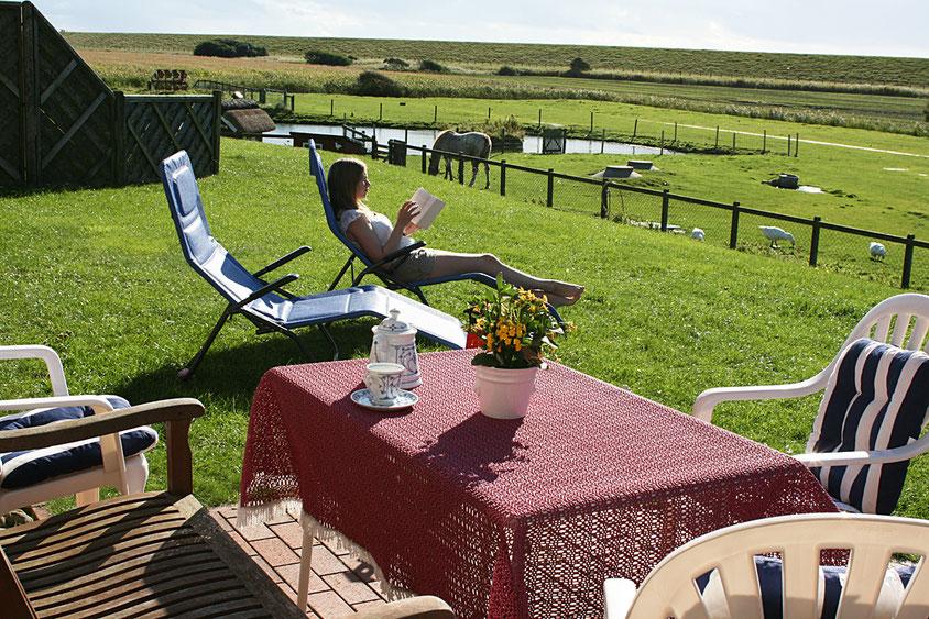 Terrasse der Ferienwohnung Habel