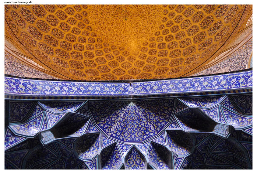 In der Lotfullah-Moschee in Isfahan