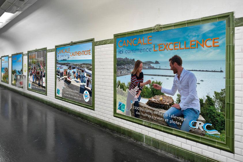 Affiches métro 200x150 cm.