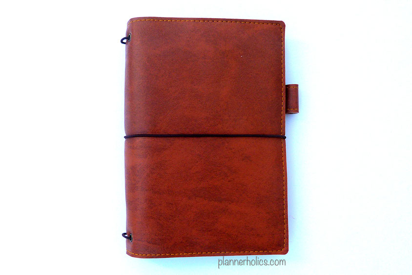 vegan leather traveler´s notebook in camel