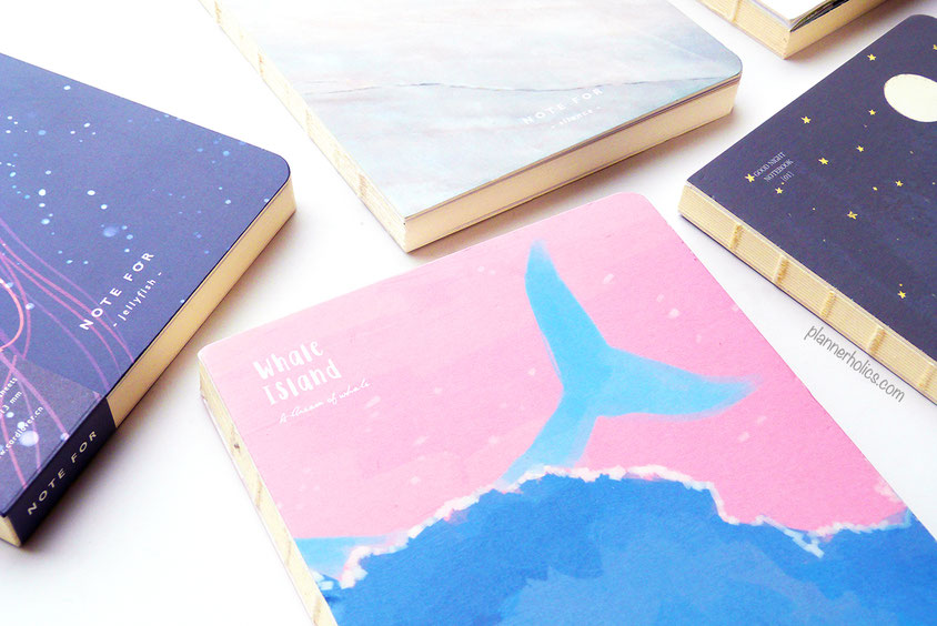 notefor notebook and sketchbook for journaling