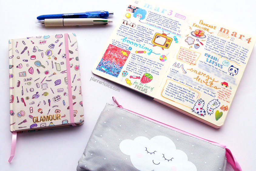 glamour pocket planner and notefor sketchbook for memory journaling