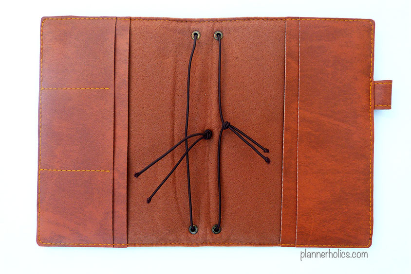 vegan traveler´s notebook interior