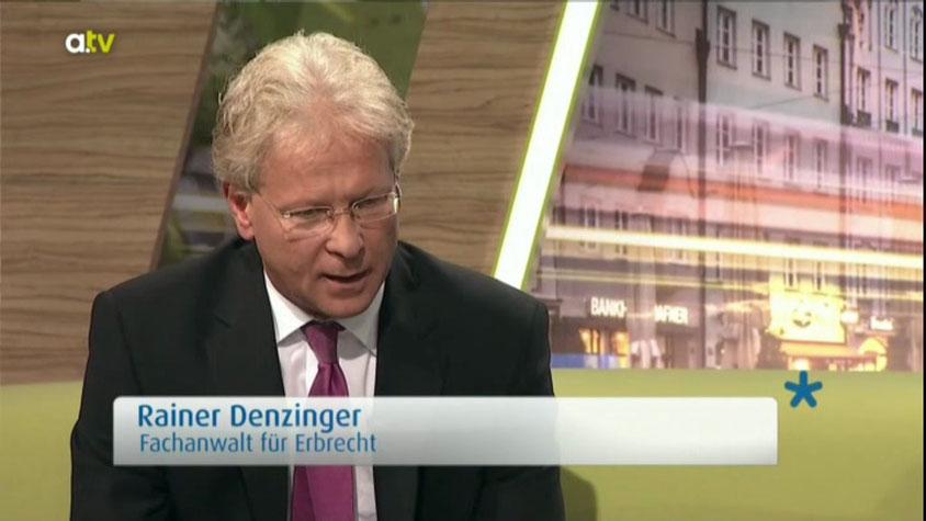 Rechtsanwalt Rainer Denzinger in TV-Sendung