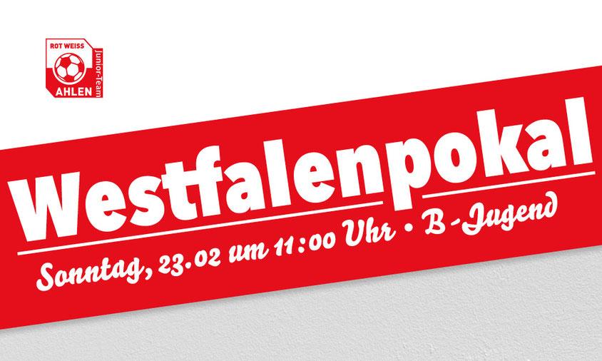 Westfalenpokal Rot Weiss Ahlen U17 B1 gegen Sportfreunde Siegen