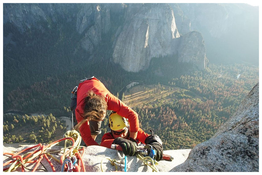 Topping out on El Cap (picture courtesy of Enock Glidden)