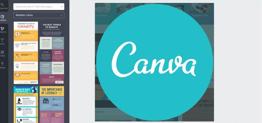 Programme de la formation Créer de beaux visuels avec CANVA Dolorès FRETARD