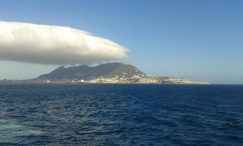 Blick zurück auf Gibraltar