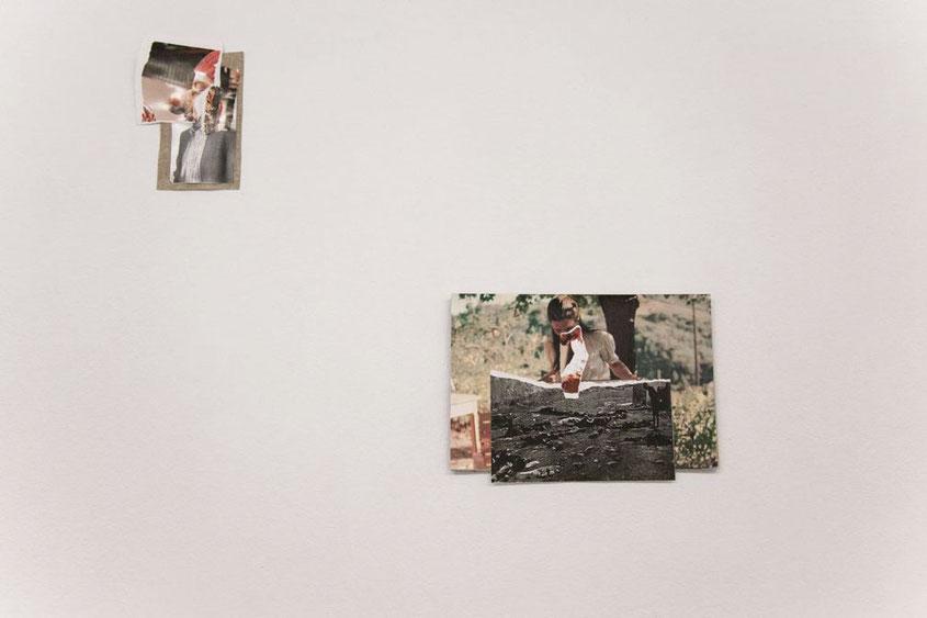 """De excrementos eran los fósiles"". Installation view at Espazo Miramemira. 2015"