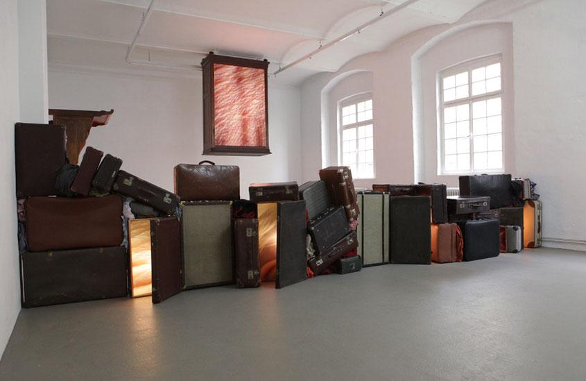 Wandeln, 2016, Fotografieinstallation in der Galerie Hafemann, Wiesbaden
