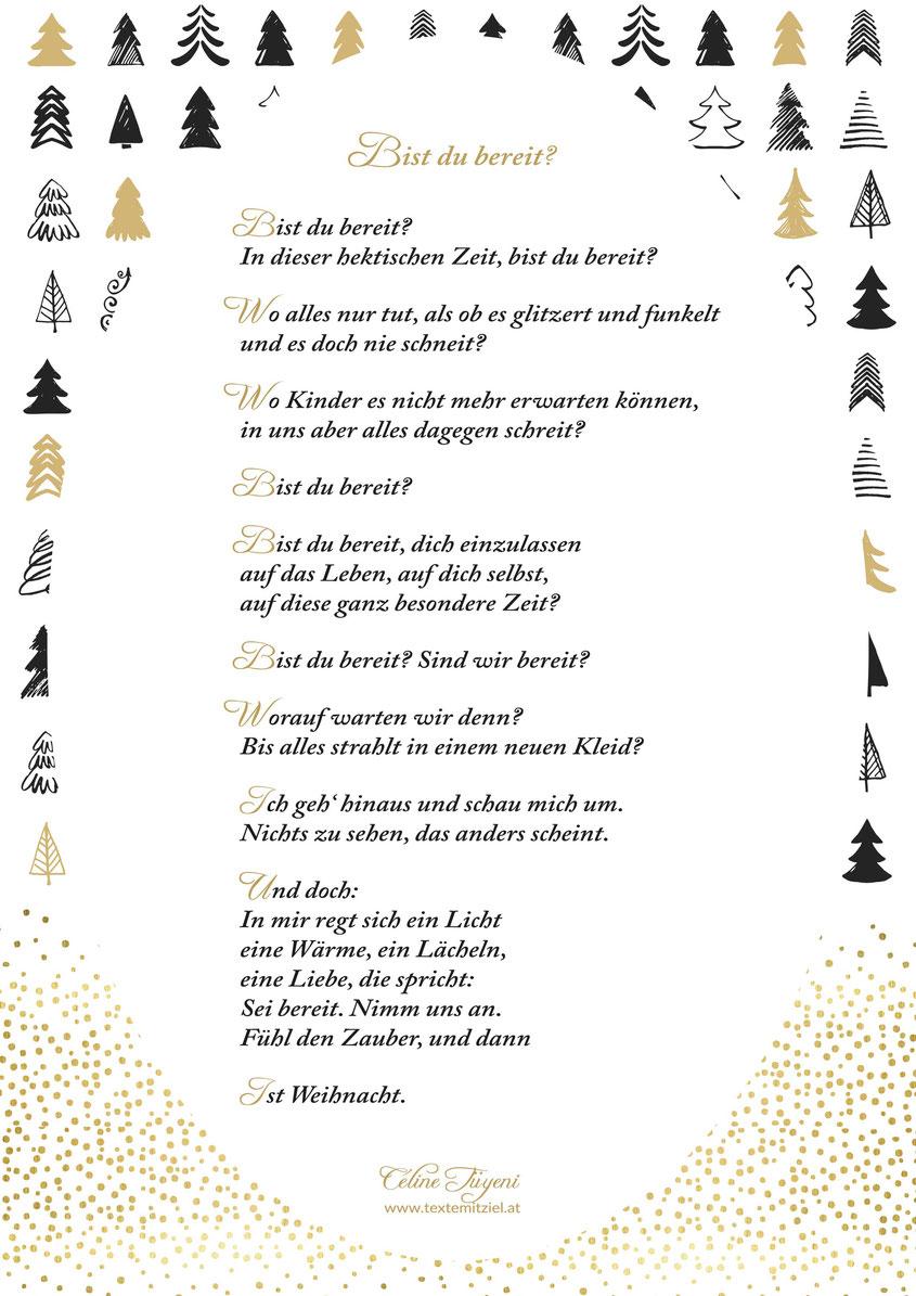 Céline Tüyeni Weihnachten Advent Gedicht Besinnlichkeit Licht Liebe Weihnacht Wärme Kinder Hektik