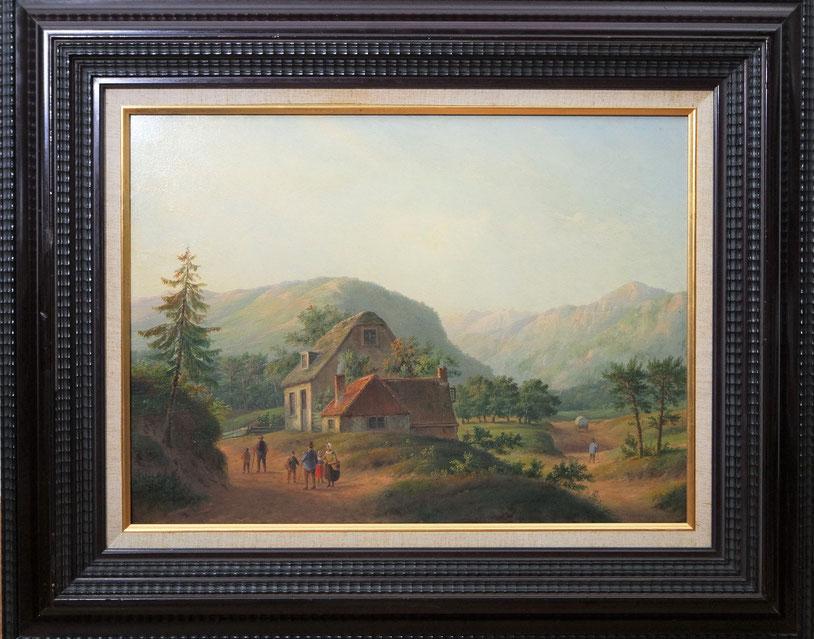 te_koop_aangeboden_een_schilderij_van_de_nederlandse_kunstschilder_carl_eduard_ahrendts_1822-1898_hollandse_romantiek