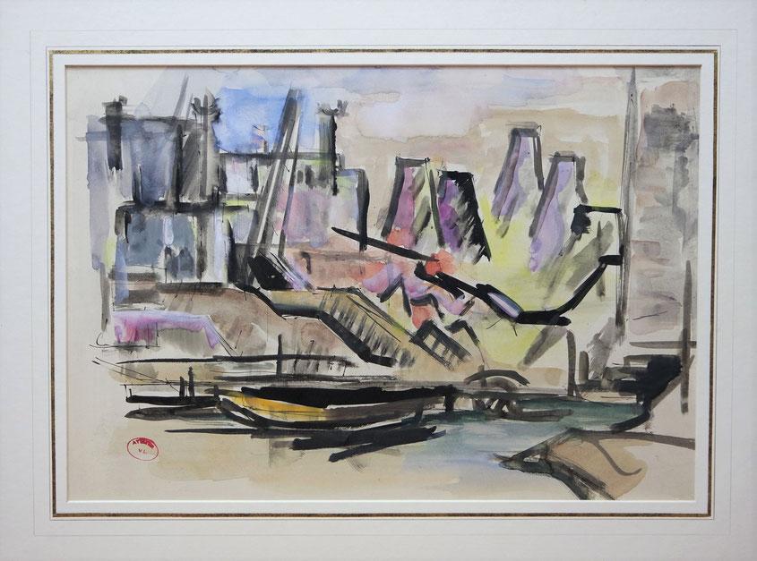 te_koop_aangeboden_een_gemengde_techniek_van_de_kunstenares_lili_pieter_van_leer_1905-1966