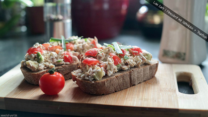 Low Carb | Rustikales Fitnessbrot mit Hüttenkäse & Thunfisch | Hot-Port.de | Lifestyle Blog
