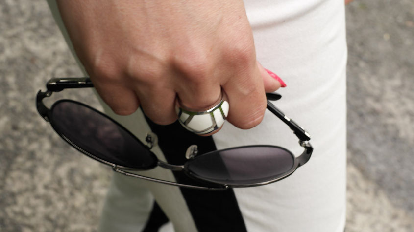 Franny´s erstes echtes Outfit | Ein Selbstversuch auf einem Lifestyle Blog | Ring & Sonnenbrille
