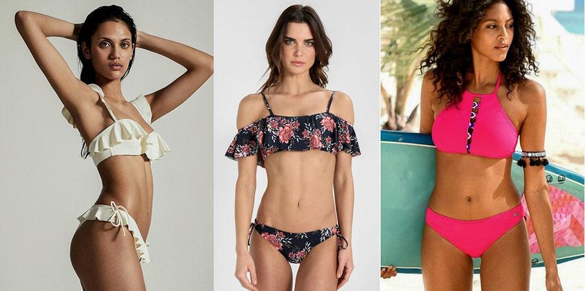 Bikinis mit High Neck & Volants eignen sich perfekt für eine kleine Oberweite | hot-port.de | 30+ Style Blog