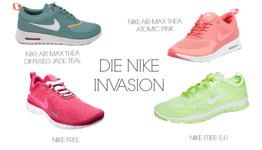 Raffinesse Nike Air Max Thea Schuhe Weißeweiße blaue Tönung
