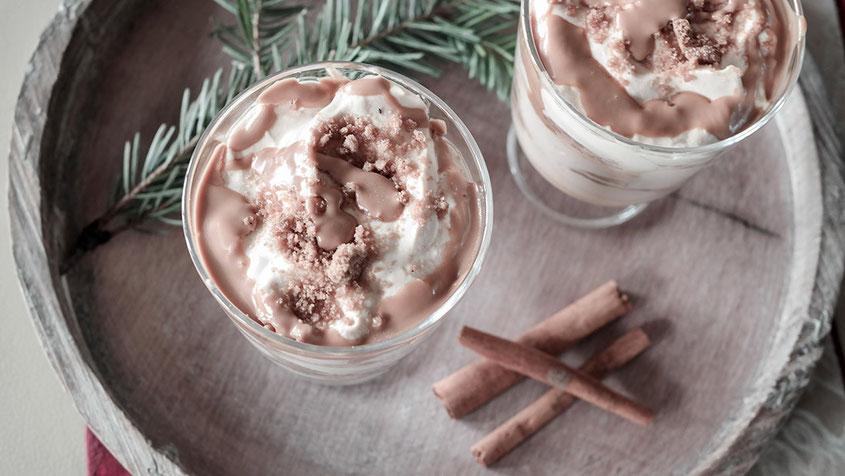 Weihnachtliche Dessert Ideen | Toffee Spekulatius Trifle