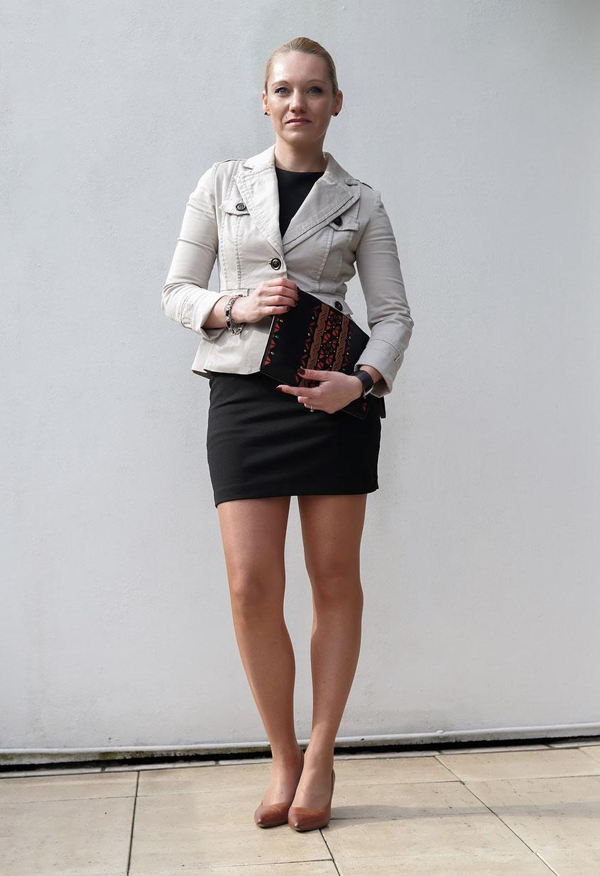 Outfit Etuikleid & Blazer | Das kleine Schwarze | hot-port.de | Ü30 Modeblog