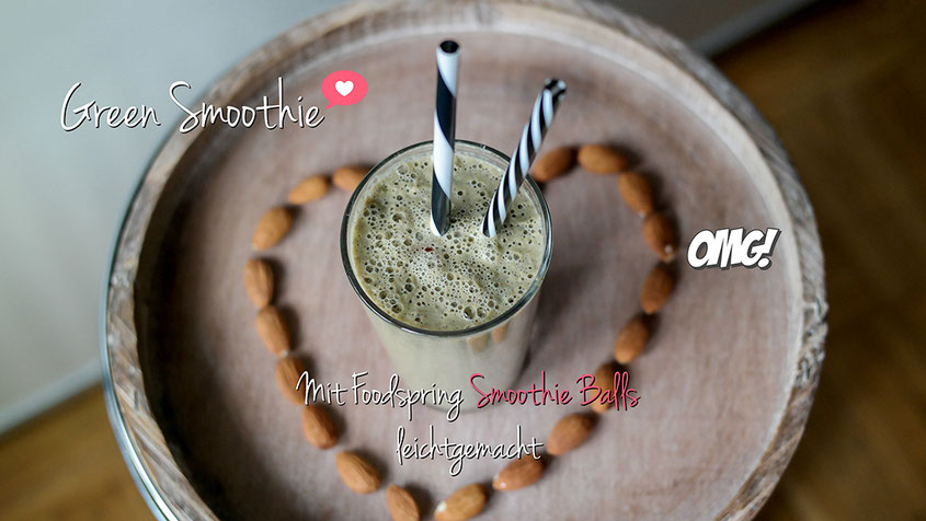 Green Smoothie | Mit Smoothie Balls von Foodspring leichtgemacht | hot-port.de | Lifestyle Blog
