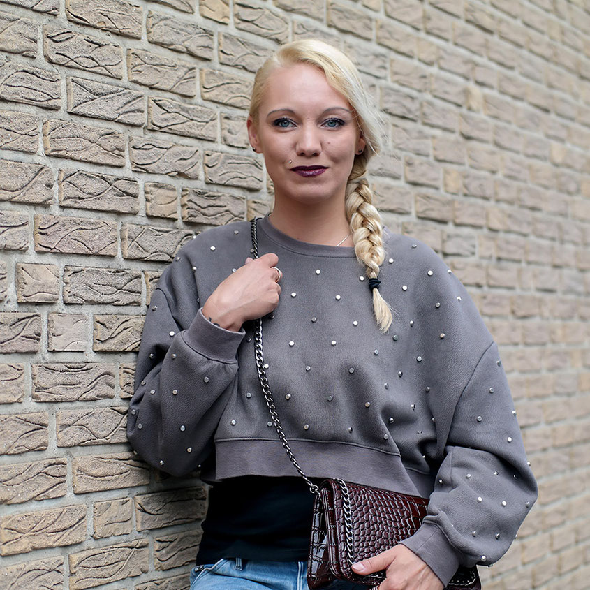 Herbstlook | Zara Nietenpulli & G-Star Biker Jeans | hot-port.de | Lifestyle & Fashion Blog