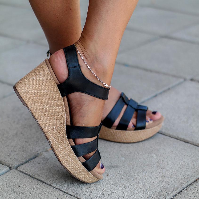 Stylishe Wedges von Clarks lassen Sommer Feeling aufkommen | Perfekt für sommerliche Outfits | hot-port.de | 30+ Style Blog