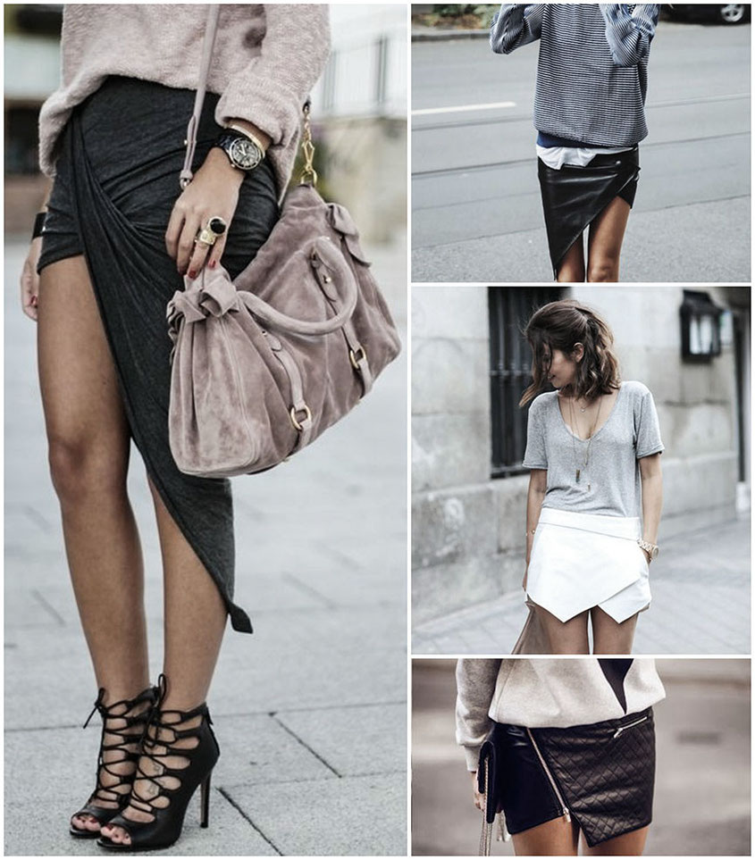 Style Trend Asymmetric Skirt