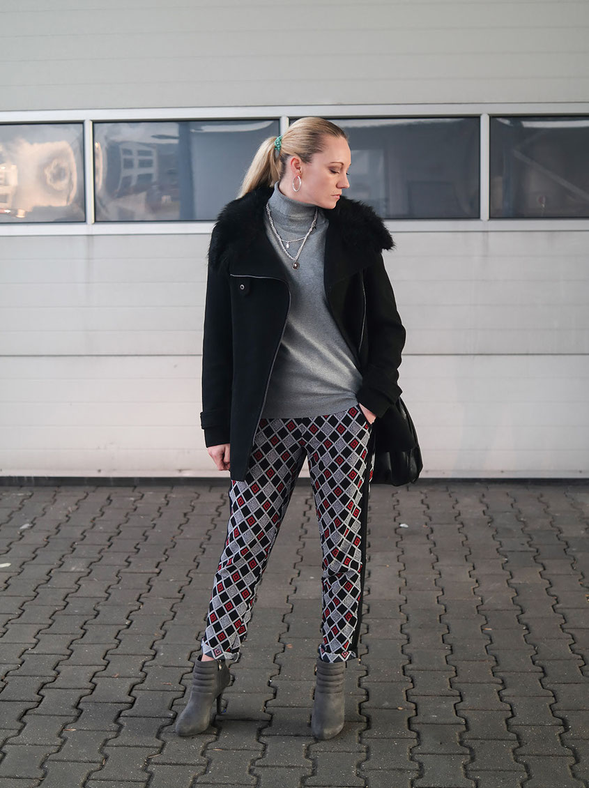 Funky Business Look with Graphic Pants | Cooler Business Style mit einer grafischen Hose | Hot-Port.de | Fashion & Lifestyle Blog