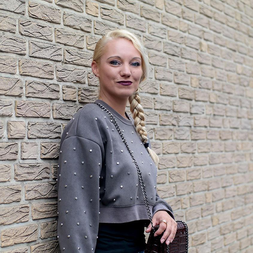 Herbstlook   Zara Nietenpulli & G-Star Biker Jeans   hot-port.de   Lifestyle & Fashion Blog